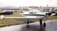I-LELF @ EGLF - SIAI-Marchetti SF.260C of the Aeritalia Flying School at Farnborough International 1980