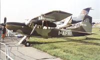 I-AFRI @ EGLF - SIAI-Marchetti SM.1019B at Farnborough International 1982