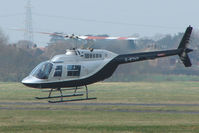 G-BTHY @ EGBJ - Bell 206B at Gloucestershire Airport for re-fuel
