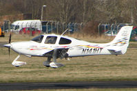 N141HT @ EGBJ - Cirrus SR22 at Gloucestershire Airport - by Terry Fletcher