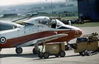 XW374 @ EGQL - Jet Provost T.5 of 1 Flying Training School performed at the 1971 Leuchars Airshow. - by Peter Nicholson