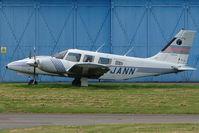 G-JANN @ EGBJ - Piper Seneca at Gloucestershire Airport