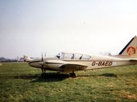 G-BAED @ EGSG - Piper PA-23 Aztec G-BAED was a resident at Stapleford during the early 80's - by GeoffW