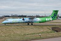 G-JEDP @ EGBB - FlyBE 's Green Machine Dash8 at BHX - by Terry Fletcher