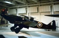 N1671 @ HENDON - The RAF Museum's Defiant 1 in the markings of 307 Squadron as displayed in 1976. - by Peter Nicholson