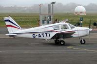 G-ATTI @ EGBJ - Piper PA-28-140 at Staverton