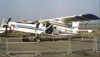 HB-FHM @ EGLF - Pilatus PC-6 Turbo Porter at Farnborough International 1982