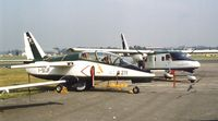 I-SIJF @ EGLF - SIAI-Marchetti S.211 at Farnborough International 1982