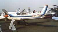 OH-TOW @ EGLF - Valmet PIK-23 Towmaster at Farnborough International 1982