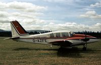 G-AZFE - This Aztec of Air Taxi Operator Air Charter Scotland visited the 1978 Strathallan Open Day. - by Peter Nicholson