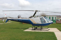 G-COLL @ EGCB - Enstrom 280C at Manchester Barton - by Terry Fletcher