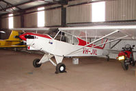 VH-JVL @ EGNG - 50 year old  Piper Pa-18 at Bagby (UK) awaiting to take up new marks of G-CFSV on the UK Register