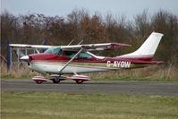 G-AYOW @ EGNU - Cessna 182N at Full Sutton