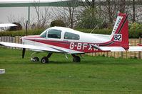 G-BFXW @ EGCJ - Grumman AA-5B at Sherburn