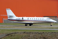 C-GJKI @ EGGW - Canadian Cessna 680 Sovereign at Luton - by Terry Fletcher