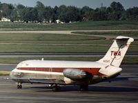 N1054T @ STL - This aircraft served with Trans-World Airlines as seen at St. Louis in the Summer of 1973. - by Peter Nicholson