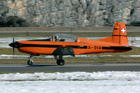 A-914 @ LSMM - There are still some PC-7's flying in the classic orange colours.