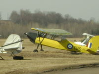 C-GPHA - painted like a DH Tiger Moth missing a lower wing! - by L.S.Moore