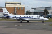 G-SPUR @ EGGW - Cessna Citation 550 of London Executive at Luton - by Terry Fletcher