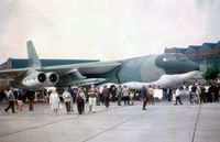 60-0043 @ MHZ - B-52H Stratofortress of 17 Bombardment Wing on display at the 1971 Mildenhall Airshow - complete with two AGM-28 Hound Dog air-to-surface missiles. (my only sighting of these!!) - by Peter Nicholson