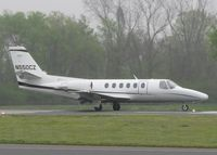 N550CZ @ DTN - Starting to roll for take off on runway 14 at the Shreveport Downtown airport with a dense fog hanging over the area.