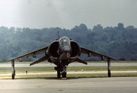 159247 @ RDG - Frontal view of the VMA-231 AV-8A Harrier at the 1977 Reading Airshow. - by Peter Nicholson