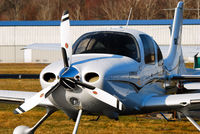 N443CD @ N07 - Morning dew rolls off this Cirrus - by Bruce Vinal