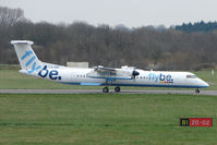 G-JEDI @ EGHI - Flybe Dash 8 arriving at Southampton Int