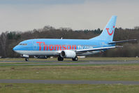 G-THON @ EGHH - Thomson B737 about to depart Bournemouth