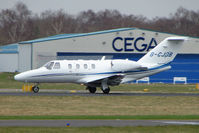 G-CJDB @ EGHH - Cessna 525 departing Bournemouth