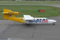 G-BDTO @ EGHI - Auringy Trislander departs Southampton