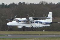 G-OMAF @ EGHH - Cobham's Do228 landing at Bournemouth using Callsign 'Watchdog'