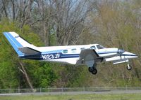 N123JF @ DTN - About to touch down on runway 14 at the Shreveport Downtown airport. - by paulp