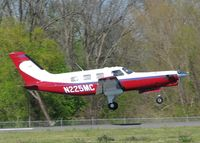 N225MC @ DTN - About totouch down on 14 at the Shreveport Downtown airport. - by paulp