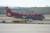 N403XJ @ DTW - Mesaba Saab 340