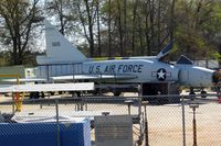 56-1115 @ WRB - F-102 in restoration area at Museum of Aviation, Robins AFB - by Timothy Aanerud