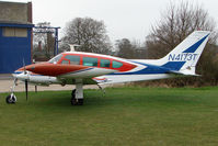N4173T @ EGTC - Cessna 320D at Cranfield