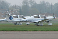 G-OCCF @ EGTC - Diamond DA40 at Cranfield