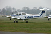 G-BGGM @ EGTC - Piper Tomahawk at Cranfield