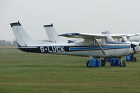 G-LUCK @ EGTC - Cessna F150M at Cranfield