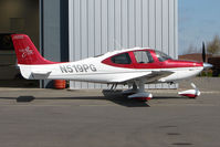 N519PG @ EGBT - Cirrus SR22 at Turweston with 4000th Cirrus on tail