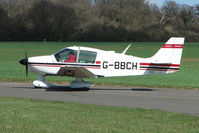 G-BBCH @ EGBT - Robin 400 about to depart from Turweston