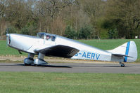 G-AERV @ EGBT - 1936 Built Miles Whitney Straight - one of the oldest aircraft still active on the UK Register