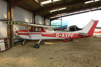 G-AXPF @ EGTN - Cessna F150K at Enstone North