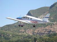 N16497 @ SZP - 1973 Piper PA-28-235 CHEROKEE CHARGER, Lycoming O-540-B4B5 235 Hp, takeoff climb Rwy 04 - by Doug Robertson