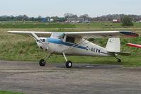 G-AKVM @ EGCF - Cessna 120 at Sandtoft