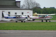 G-BSDO @ EGCF - With the closure of Sheffield City - this Cessna 152 is now resident at Sandtoft