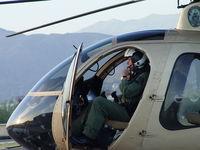 N108PP @ POC - Senior Pilot Bass preparing for patrol - by Helicopterfriend