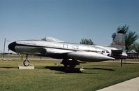 44-85123 @ SKF - EF-80A Shooting Star in the USAF History & Traditions Museum in 1978. The aircraft now resides at Edward AFB. - by Peter Nicholson
