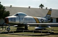 47-0605 @ SKF - Another view of Lackland's F-86A Sabre in 1978. - by Peter Nicholson